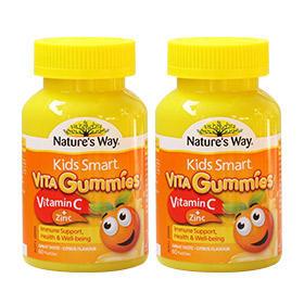 【组合装】Nature&#039s Way 佳思敏 Kids Smart儿童维生素C+锌软糖 60粒2
