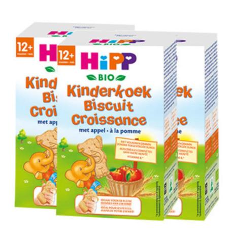 【2.17】【荷兰DOD】Hipp 喜宝 苹果味有机小象全麦饼干(适合12个月以上宝宝)150g 3盒装