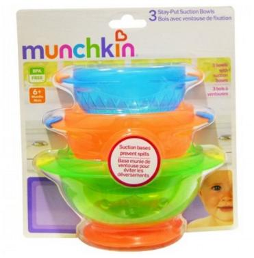 【2.14】【澳洲RY云顶集团药房】Munchkin 麦肯齐 满趣健 婴儿防摔吸盘碗3个辅食套装