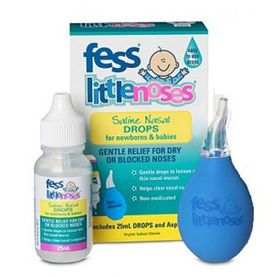 【新西兰PD】【凑单】Fess 婴幼儿盐水通鼻剂(附吸鼻器) 25ml
