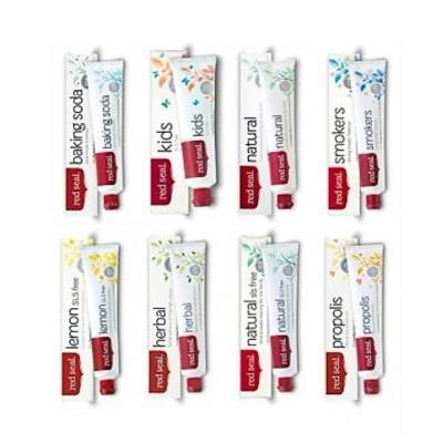 【新西兰PD】【8支包邮装】Red Seal 红印 牙膏套装