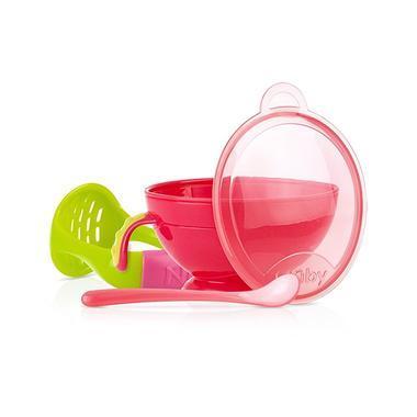 【美国Babyhaven】Nuby 努比 Garden Fresh 新鲜菜园 研磨喂食碗 红色/绿色