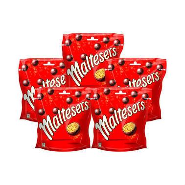 【德国DC药房】Maltesers 麦丽素 麦芽脆心牛奶夹心糖果巧克力豆 175g5袋