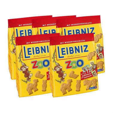 【德国DC药房】【5盒特惠装】Leibniz 莱布尼兹 经典动物图案黄油饼干 5X125g