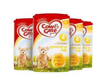 【4罐包邮装】Cow & Gate 牛栏 幼儿配方奶粉4段 (2-3岁幼儿)800g4罐