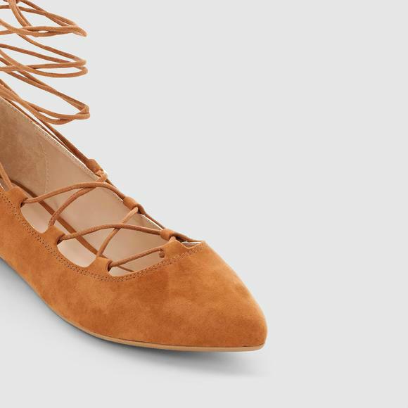 【法国LR】R edition 绑带芭蕾尖头鞋