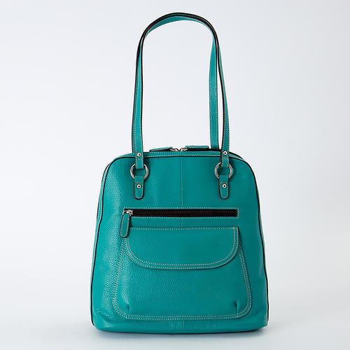 【松屋百货】【免邮】BIENCO 两用牛皮背包 薄荷蓝色 现特价12960日元 含税直邮到手14502日元