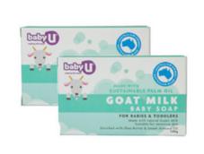 【组合装】BabyU 婴儿羊奶皂 100g (温和/清洁)2
