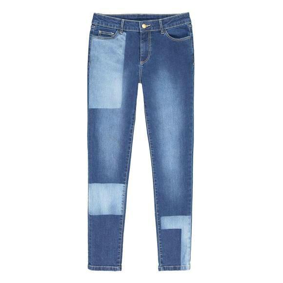 【法国LR】R edition拼接撞色女士牛仔裤