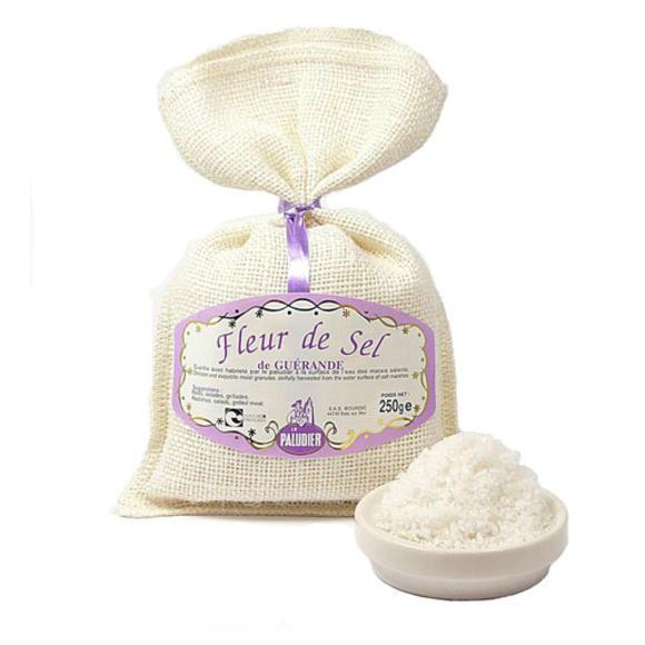 【法國BM】法國 蓋朗德 鹽之花(更適合寶寶鹽分攝入)250g 亞麻布袋