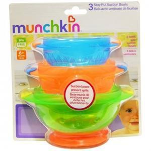 【澳洲P4L药房】Munchkin 麦肯齐 满趣健 婴儿防摔吸盘碗3个辅食套装