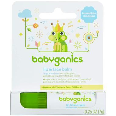 【美国Babyhaven】Babyganics 甘尼克宝贝 润唇膏 0.25盎司(7克) 无香型