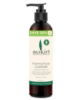 【澳洲PO药房】Sukin 天然植物泡沫洗面奶 250ml 超值装