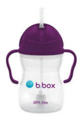 B.box 婴幼儿重力球吸管杯 防漏 240ml 葡萄紫 (6个月以上)