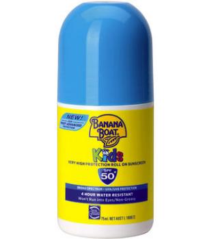 【澳洲PO药房】Banana Boat 香蕉船 儿童滚珠型防晒霜 75ml(SPF 50+)