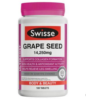 【澳洲PO药房】Swisse 澳洲葡萄籽精华 180粒(天然抗氧化)