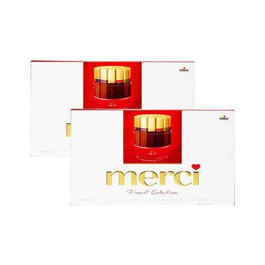 【德国DC药房】【2盒特惠装】merci 蜜思 什锦巧克力 400g 2盒