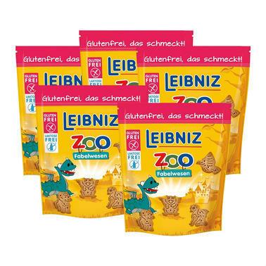 【德国DC药房】【5盒特惠装】Leibniz 莱布尼兹 小怪兽形状黄油饼干 100g x5 无麸质