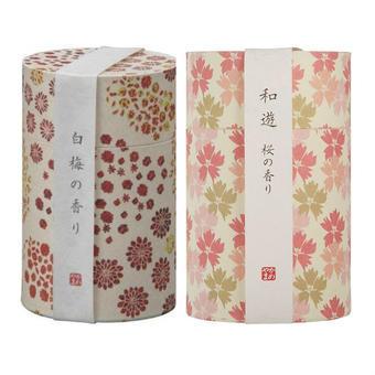【多庆屋】【免邮】龟山Kameyama 和遊系列线香 樱花香味 约90g+ 白梅香味 约90g