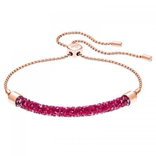 春季新品!SWAROVSKI施华洛世奇 时尚简约手链粉红色 到手价446元!
