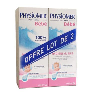 【85折】Physiomer 菲丝摩尔 婴幼儿专用微扩散鼻腔清洁喷雾 115mlx2支装