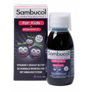 【荷兰DOD】 Sambucol 黑接骨木儿童果味糖浆 (提高抵抗力 1-12岁)120ml