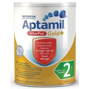 【澳洲RY药房】Aptamil AllerPro 爱他美金装深度水解抗过敏奶粉2段 900g