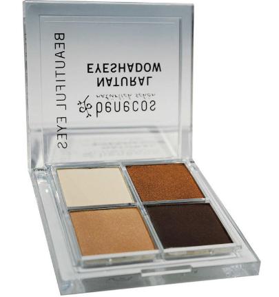 【荷兰DOD】Benecos 天然有机四色眼影 大地色(棕色系)1盒