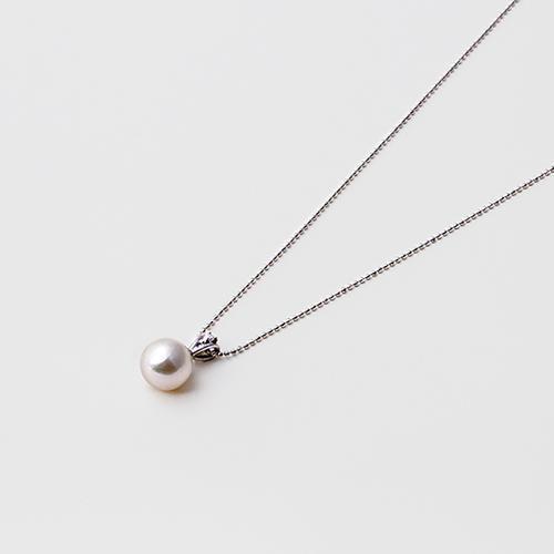 【松屋百货】【免邮】Maria 8.5mm阿古屋珍珠吊坠S925银质项链 白色 原价9070 现特价7256日元