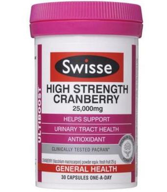 【澳洲PO药房】Swisse 澳洲蔓越莓精华胶囊 30片