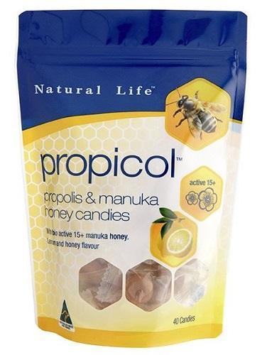 【澳洲RY药房】Natural Life 自然生命 麦卢卡15+ 蜂胶润喉糖 40粒