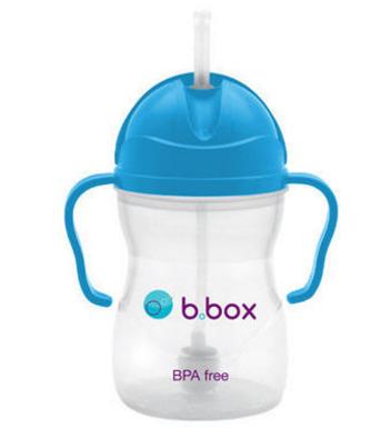 【澳洲PO药房】B.box 婴幼儿重力球吸管杯 防漏 240ml 湖蓝色 (6个月以上)