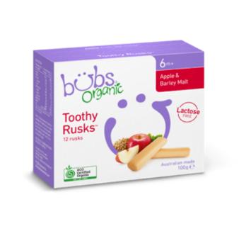 【澳洲PO药房】Bubs 贝儿 婴儿有机苹果大麦磨牙棒(适合6个月+)100g