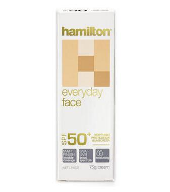 【澳洲PO药房】Hamilton 汉密尔顿 日常防晒面霜 SPF50+ 75g