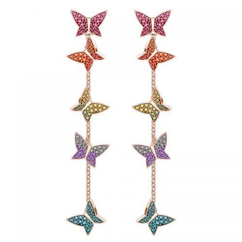 SWAROVSKI施华洛世奇春季新品LILIA彩色蝴蝶穿孔耳环 到手721元!