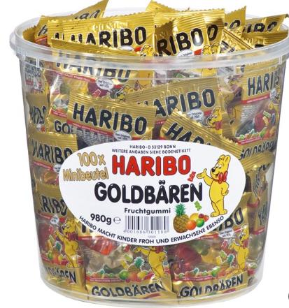 【德国BA】Haribo 哈瑞宝 迷你小熊软糖1桶/独立小包装/德国经典糖果
