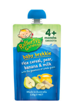 Rafferty&#039s Garden 婴幼儿天然香蕉梨子牛奶混合米粉 120g