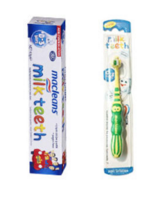 【组合装】Macleans 0-3岁防蛀童乳牙牙刷+低氟儿童乳牙牙膏 65g