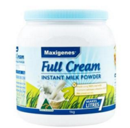 【限量到货 】Maxigenes 美可卓(蓝胖子) 全脂高钙成人奶粉 1kg/瓶