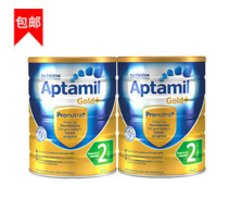 【包邮组合装】Aptamil 爱他美 金装2段婴幼儿奶粉 900g X2(有效期至2018年12月)