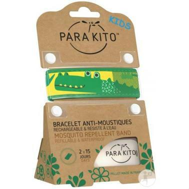 【德国DC药房】Parakito 帕洛 纯天然植物驱蚊手环  带2片替换驱蚊片