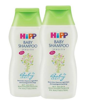 【德国BA】Hipp 喜宝柔润婴幼儿有机杏仁提取护发洗发露 两瓶 2x200ml