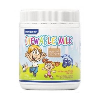 【澳洲RY药房】【限时特惠价】Maxigenes 美可卓 蓝莓味咀嚼奶片(护眼补钙) 150粒