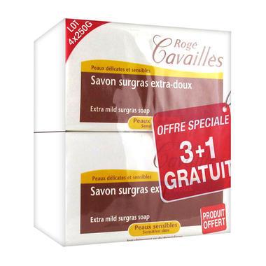 Rogé Cavaillès 温和润滑美容肥皂 孕妇敏感沐浴 250gX 4
