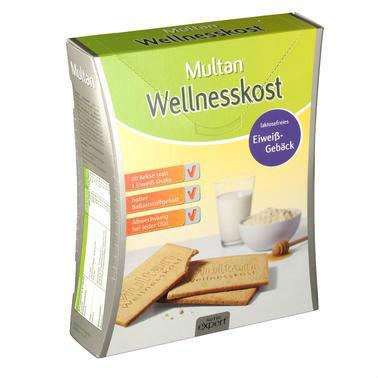 【德国DC药房】Multan 低卡路里蛋白饼干 12x5包