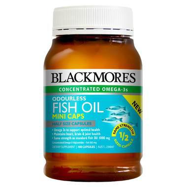 【澳洲PO药房】Blackmores 澳佳宝 无腥味深海鱼油迷你胶囊 400粒