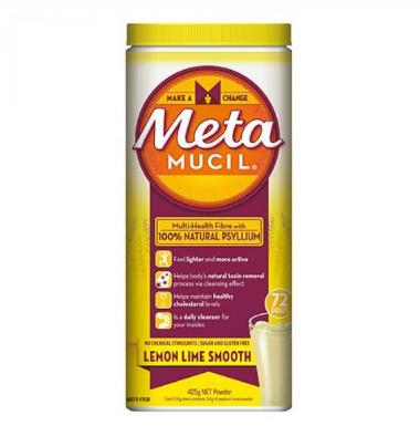 【澳洲RY药房】Metamucil 天然柠檬青柠味通便排毒膳食纤维粉 72次量 425g