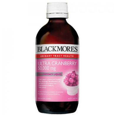 【澳洲RY药房】【高浓度,易吸收】Blackmores 蔓越莓口服液 50000mgx200mL