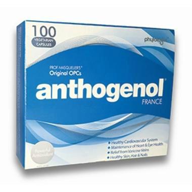 【澳洲PO药房】Anthogenol 美容高抗氧化祛纹抗衰老胶囊 100粒 (月光宝盒)