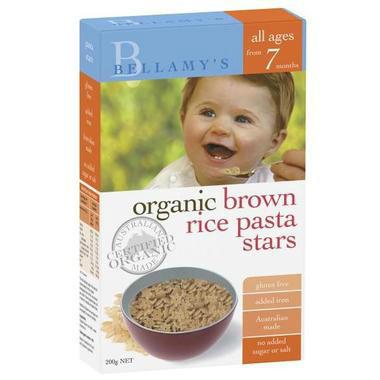 【澳洲PO药房】Bellamy&#039s 贝拉米 婴幼儿辅食有机糙米星星意面 7个月以上 200g